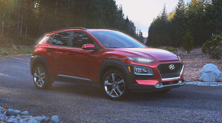 2018 Hyundai Kona in Pulse Red