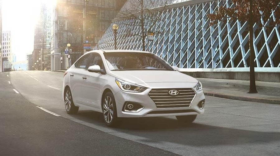 2019 Hyundai Accent in Frost White Pearl
