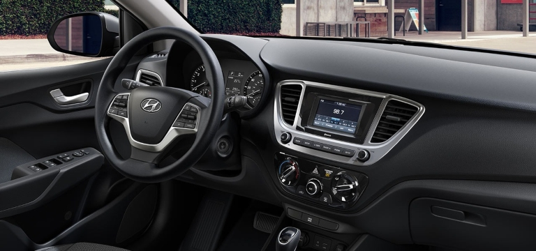 2020 Hyundai Accent Black Cloth