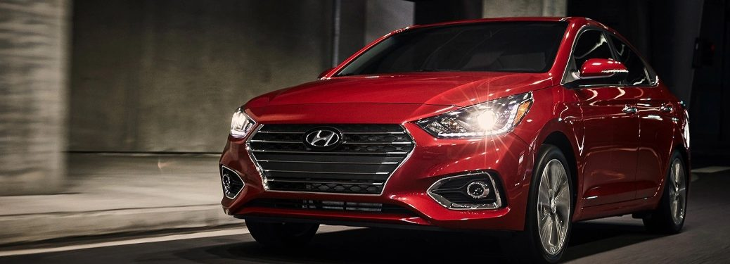 2020 Hyundai Accent on Road
