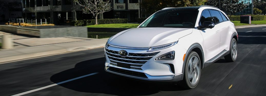 2020 Hyundai NEXO going down street