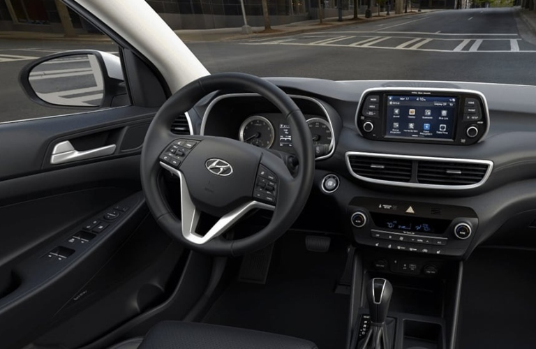 2020 Hyundai Tucson Black Leather Interior