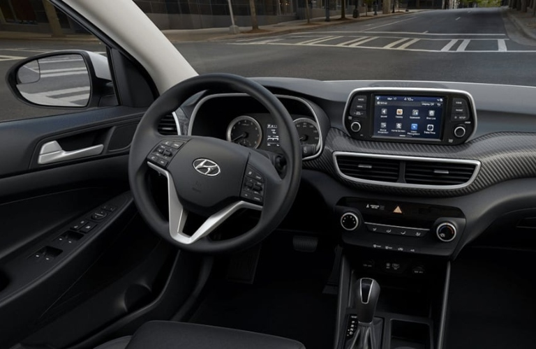 2020 Hyundai Tucson Black Cloth Interior