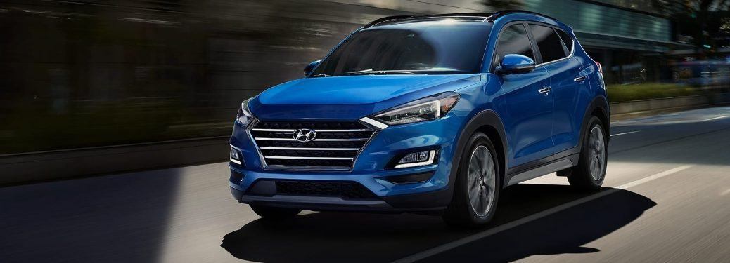2020 Hyundai Tucson going down the road