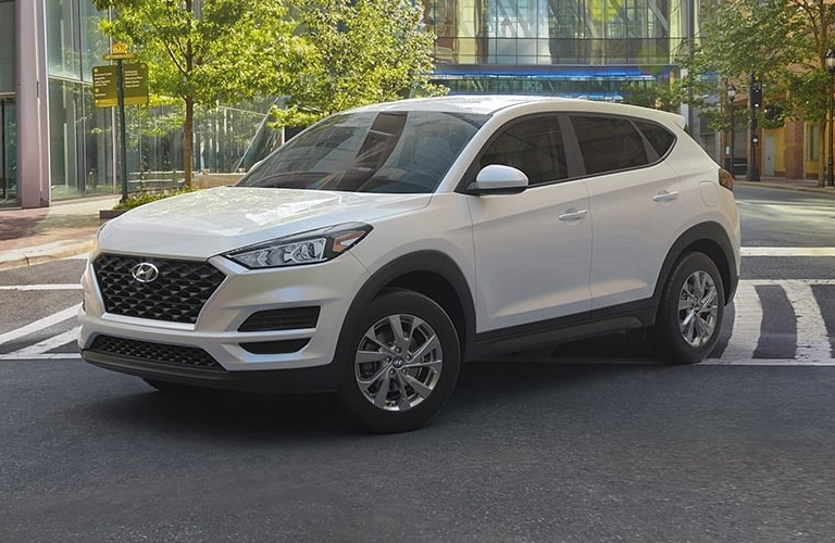 2020 Hyundai Tucson White Cream