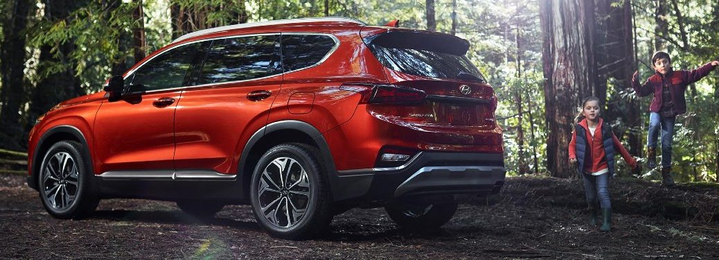 2020 Santa Fe parked in a forest