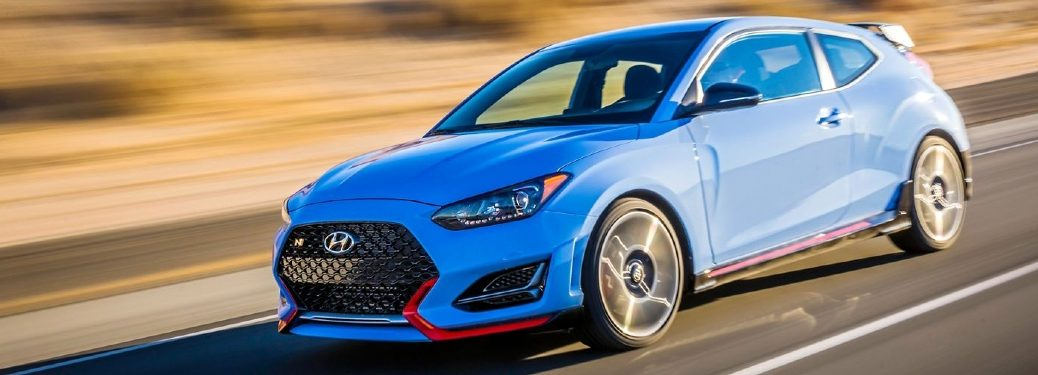 2020 Veloster N driving on desert highway