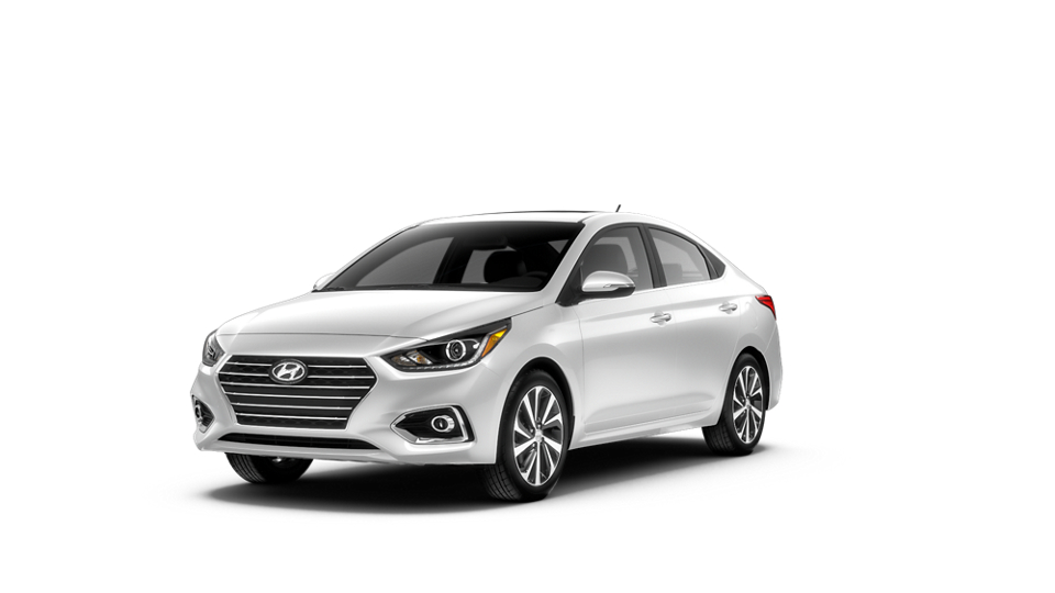 2020 Accent frost white
