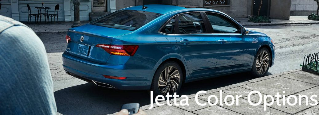 "blue vw jetta with overlaid text saying ""Jetta color options"""