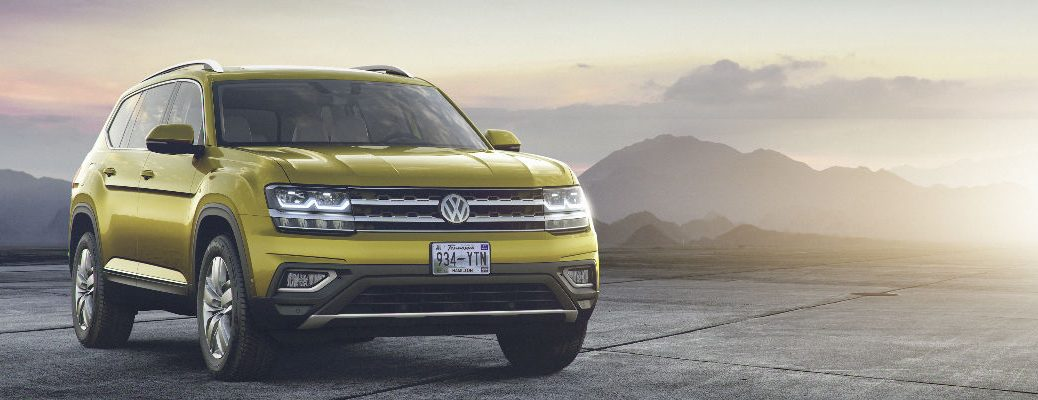 2018 VW Atlas in Yellow Paint Color