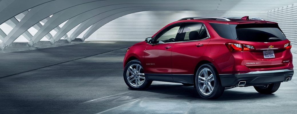 2019 Chevy Equinox Rear View of Red Exterior