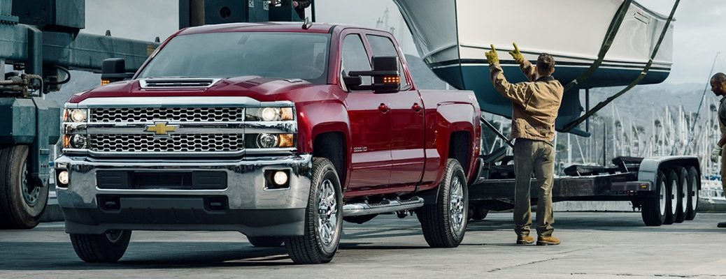 2019 Chevy Silverado 1500 Front View of Red Exterior