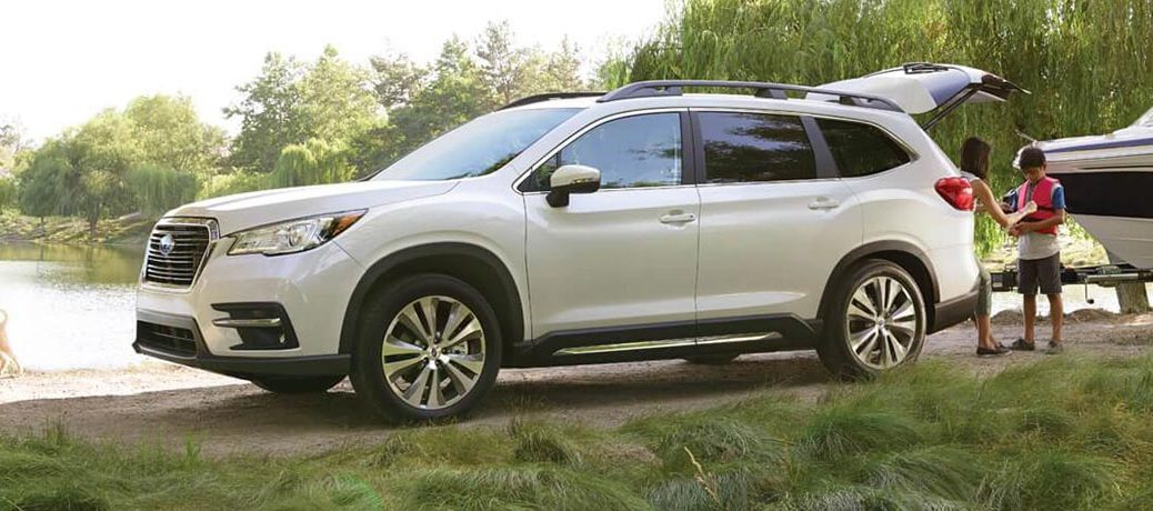 2019 Subaru Ascent Side View of White Exterior