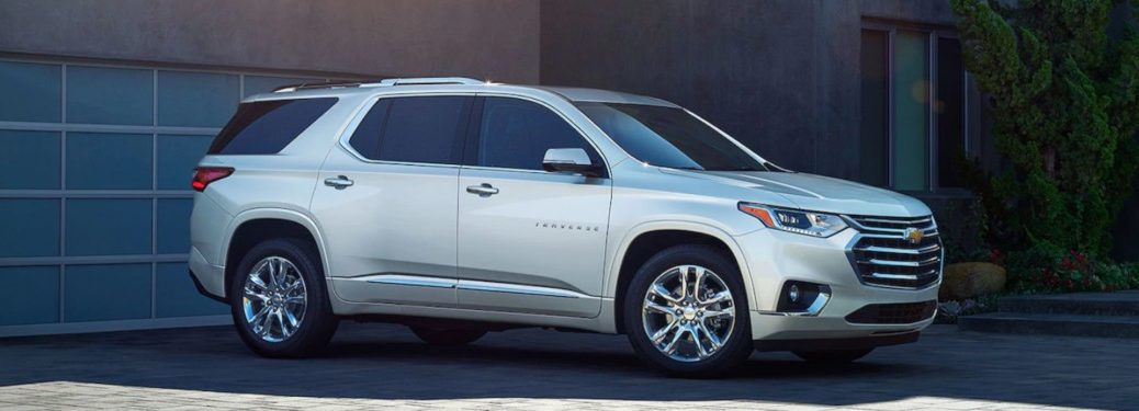 2019 Chevy Traverse parked in a driveway