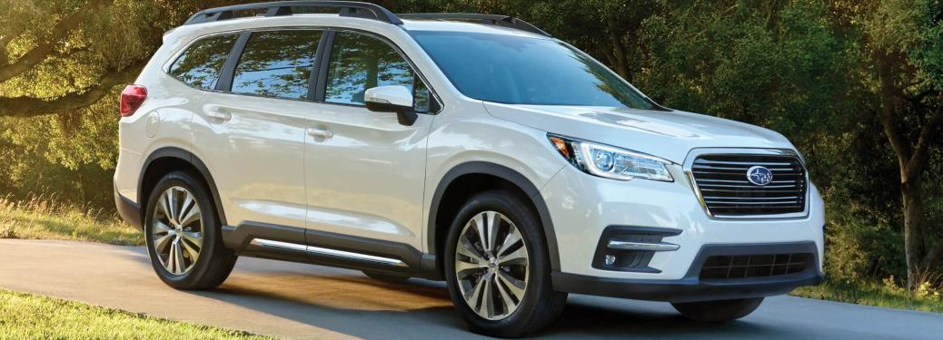 2020 Subaru Ascent driving down a country road