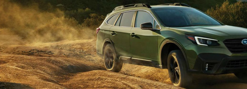 2020 Subaru Crosstrek exterior front fascia passenger side off road kicking up dust