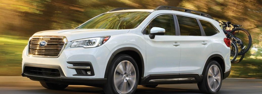 2020 Subaru Ascent driving down a rural road
