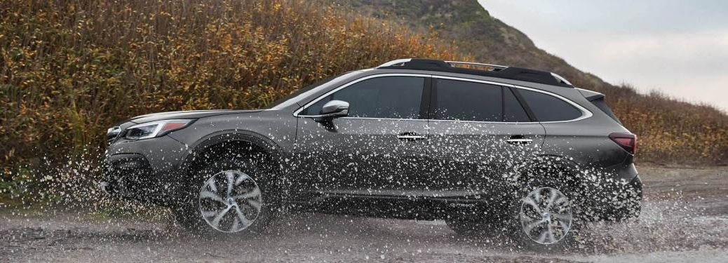 2020 Subaru Outback driving through water