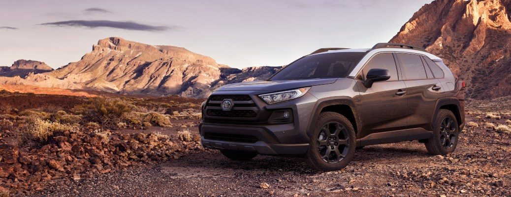 2020 Toyota RAV4 TRD Off-Road gray and white side view