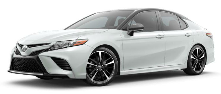2020 Toyota Camry Wind Chill Pearl Midnight Black Metallic Roof
