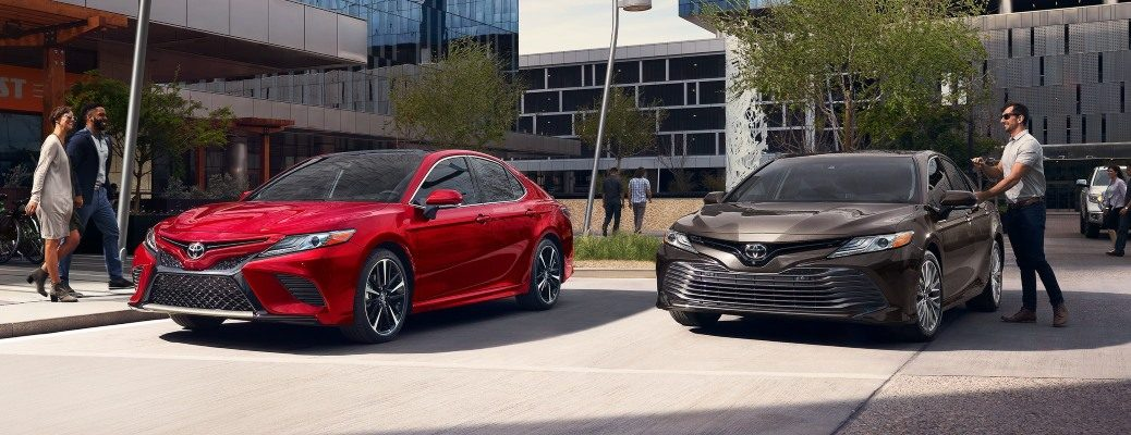 2020 Toyota Camry red and brown