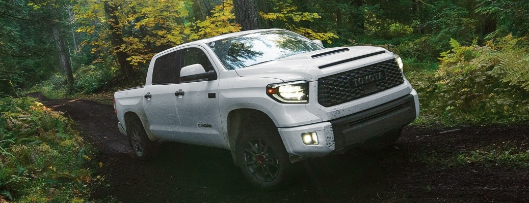 2020 Toyota Tundra TRD Pro white side front view