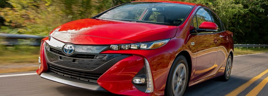 2021 Toyota Prius Prime driving on a road
