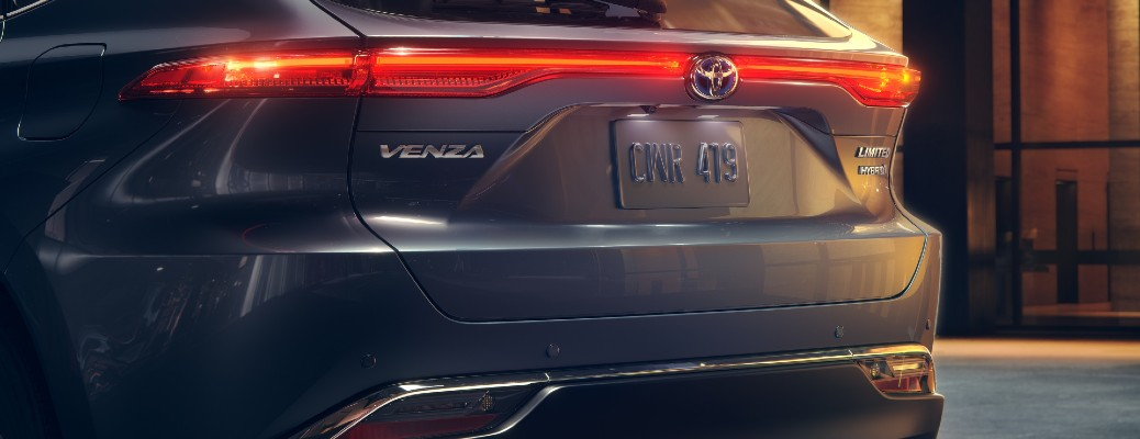 2021 Toyota Venza Limited exterior rear shot of trunk, back bumper, and taillights