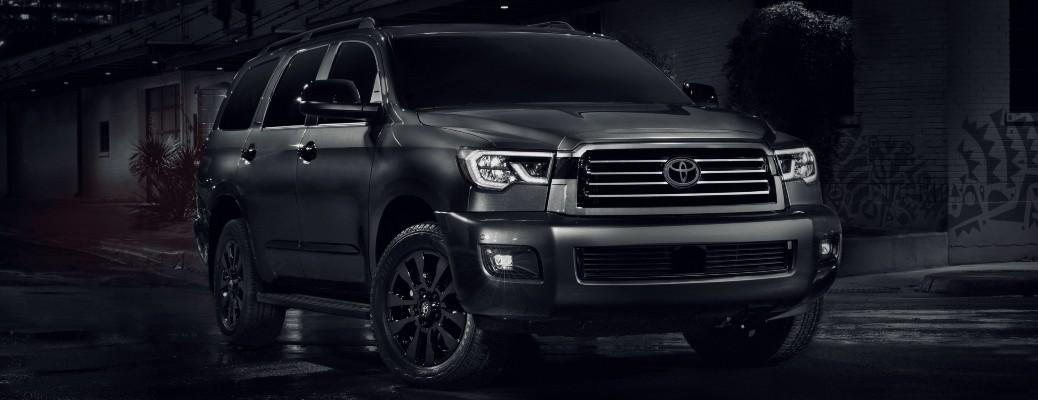 2021 Toyota Sequoia Nightshade Edition with black background