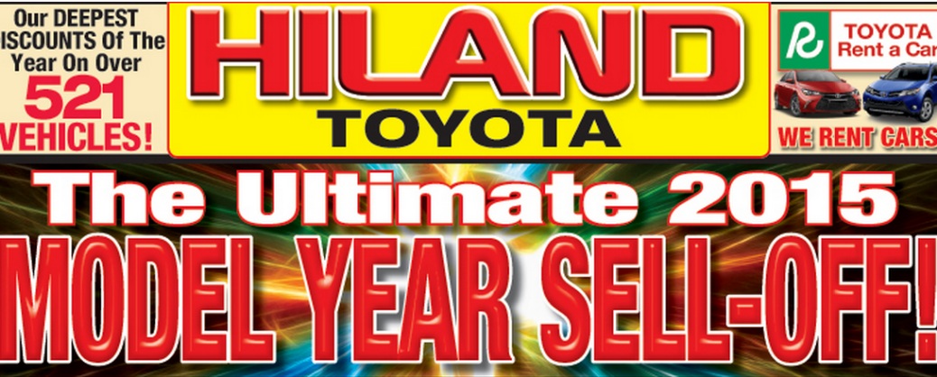 Labor Day Toyota Sales Hiland Toyota 2015