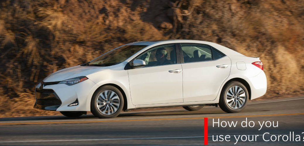 How do you use your 2017 Toyota Corolla?
