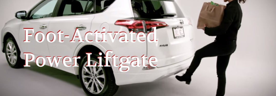 With The Simple Swing Of Your Foot The Rav4 S Power Liftgate Can Open Automatically Hiland Toyota