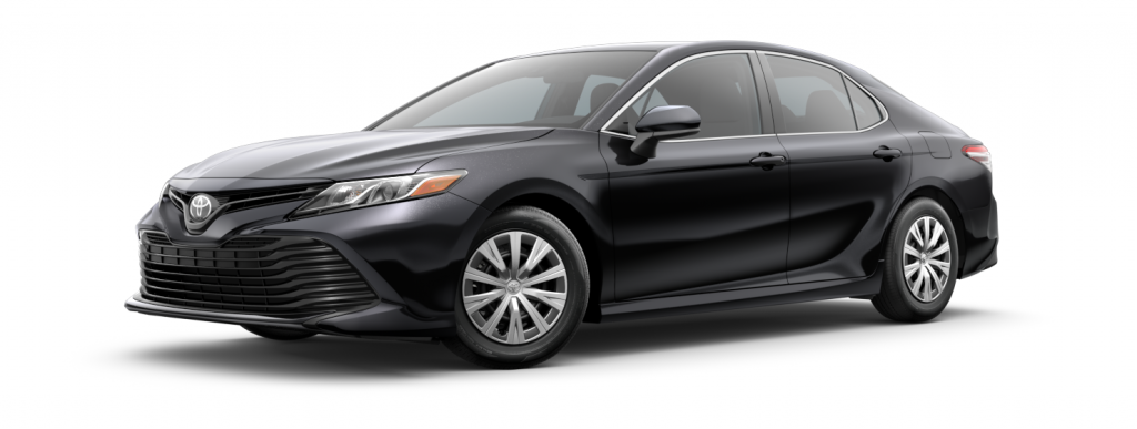 2018 Toyota Camry in midnight black