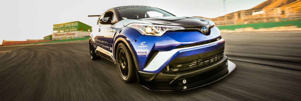 2018-Toyota-C-HR-R-TUNED-from-2017-SEMA-Show-on-the-track
