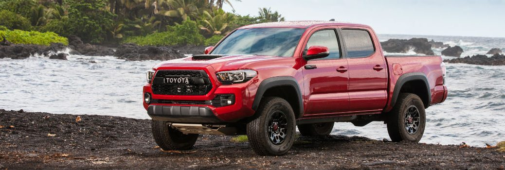 2018 Toyota Tacoma TRD Pro Series Exterior Driver Side Front Profile on Beach