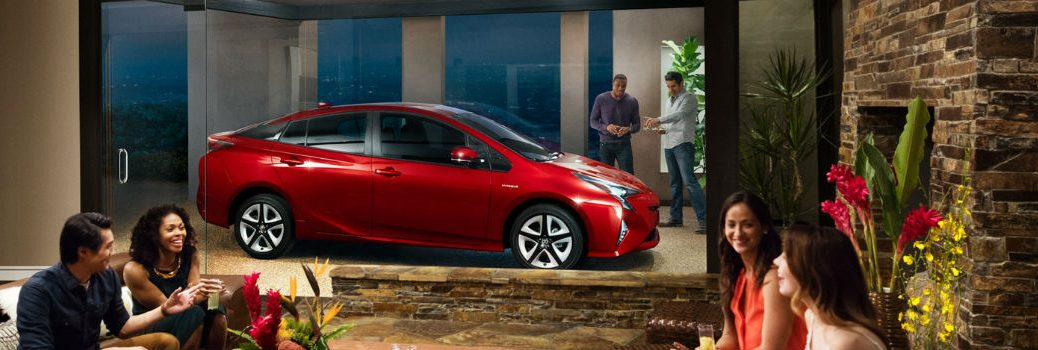 2018 Toyota Prius Exterior Passenger Side Profile at a Party