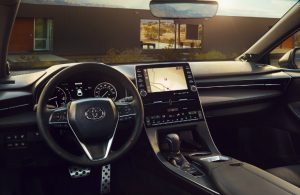 2019 Toyota Avalon Hybrid front interior and touchscreen display