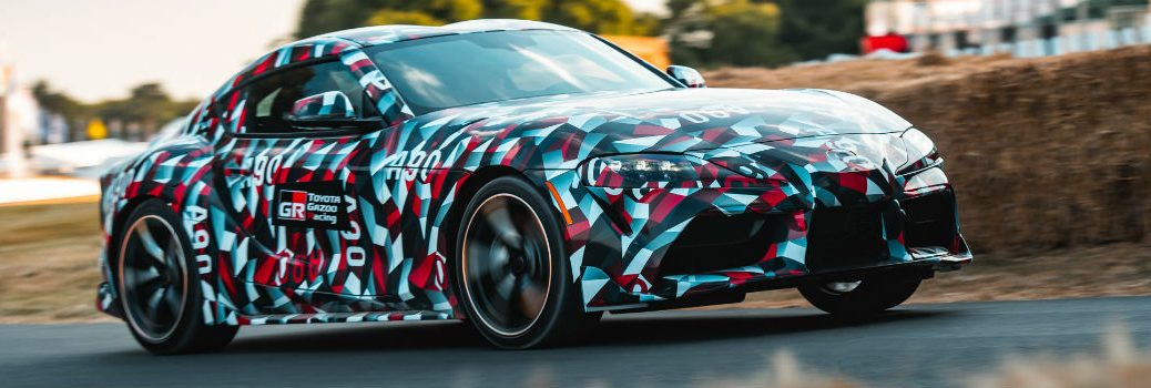 2019 Toyota Supra Exterior Passenger Side Front Profile in Camo