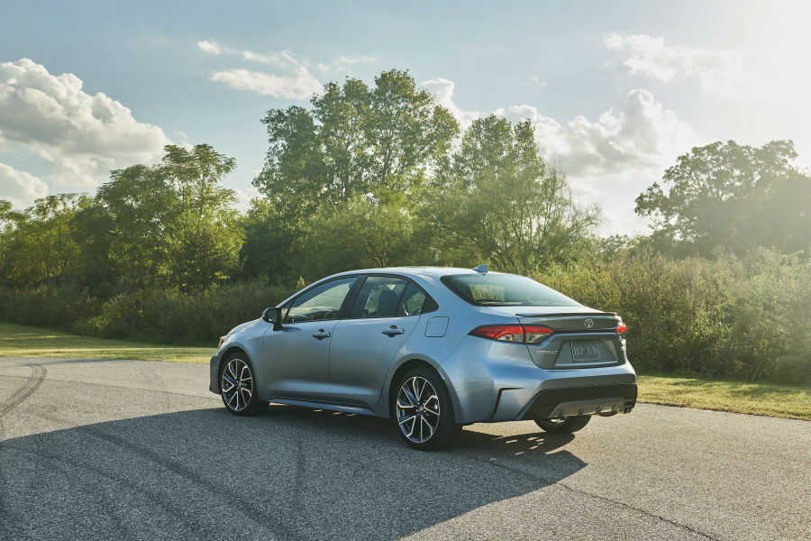 2020 Toyota Corolla Exterior Driver Side Rear Angle