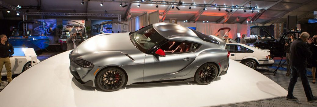 2020 Toyota Supra Exterior Driver Side Aerial Front Profile at the Barrett Jackson Auction