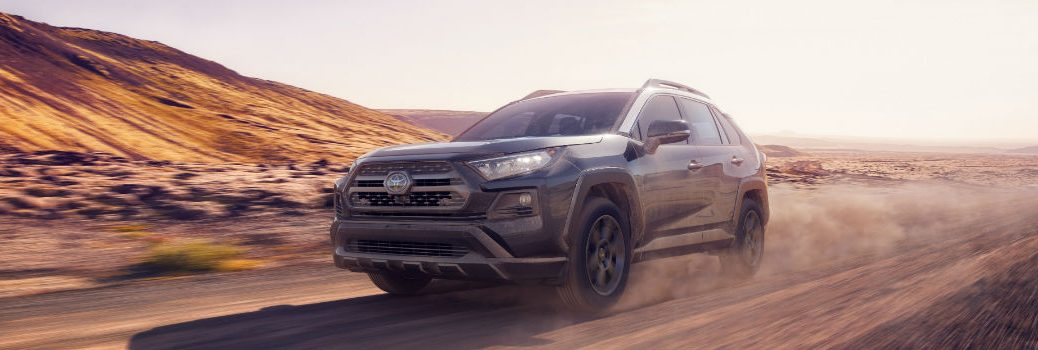 2020 Toyota RAV4 TRD Off-Road Exterior Driver Side Front Angle on Sand