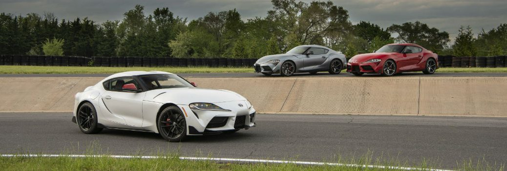 2020 Toyota Supra Three Models Exterior Driver and Passenger Side Profiles