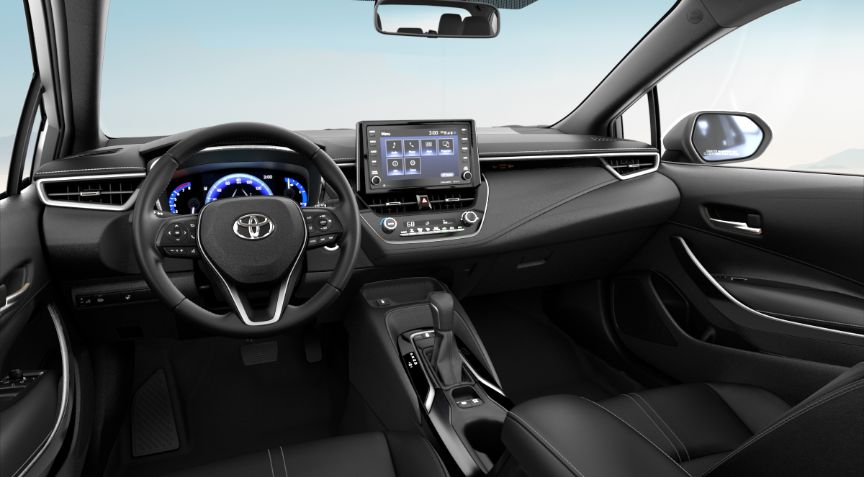 2020 Toyota Corolla XLE Interior Cabin Dashboard in All Black Softex