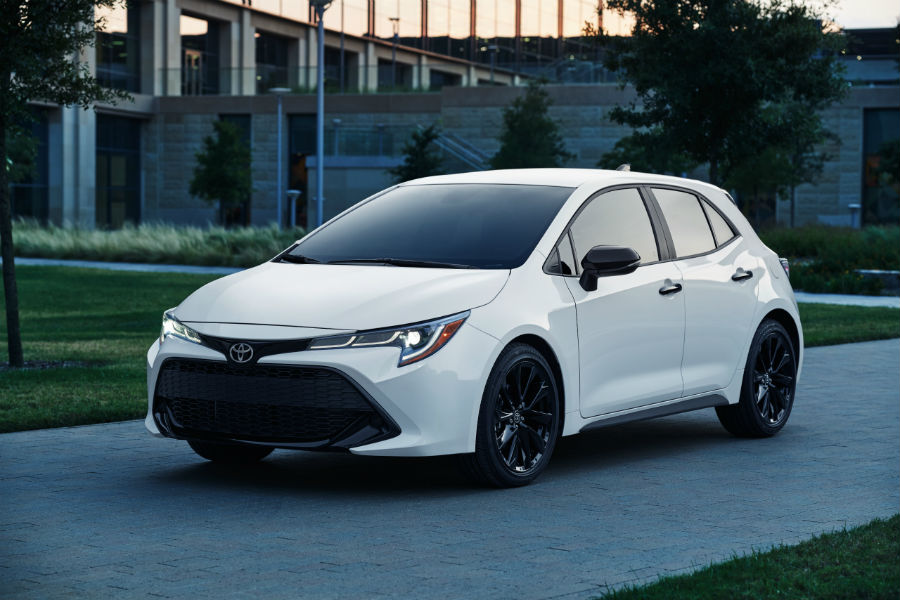 2020 Toyota Corolla Hatchback Nightshade Exterior Driver Side Front Profile