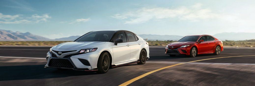 2020 Toyota Camry TRD & XSE Exterior Driver Side Front Profiles