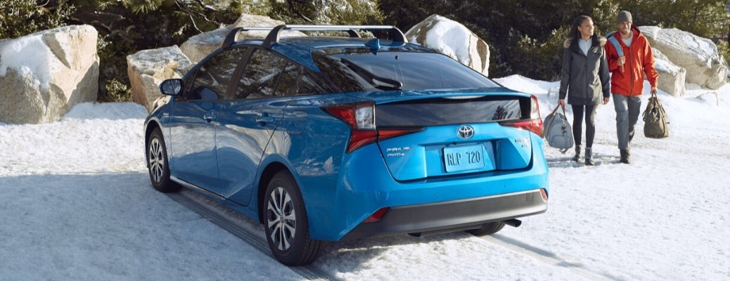 2020 Toyota Prius driving on snow