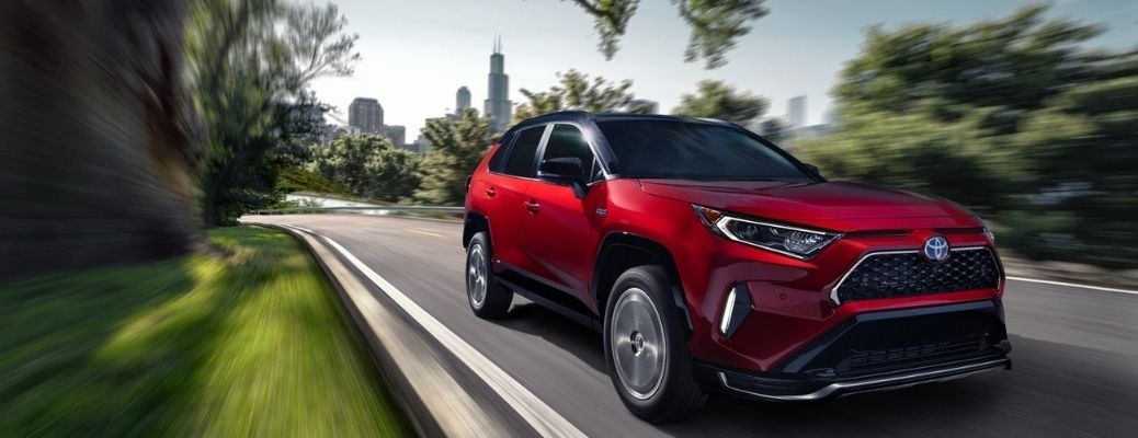 2021 Toyota RAV4 Prime driving front view