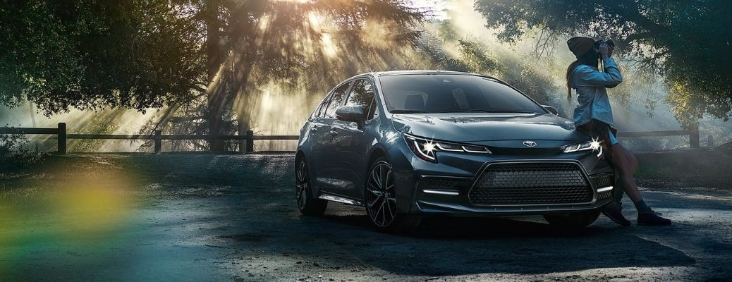 2021 Toyota Corolla parked outside in the forest