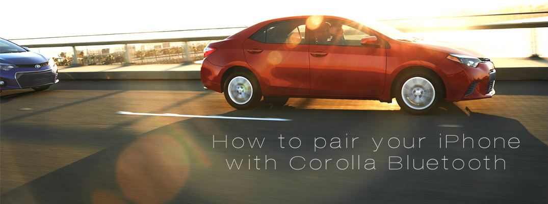 How to pair your iPhone with the 2015 Toyota Corolla Bluetooth