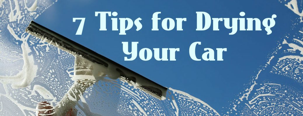 Tips for drying your car after washing Vacaville CA